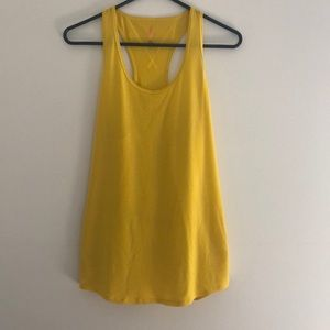 Yellow Lucy workout tank